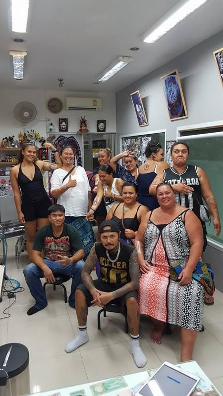 Everyone got the smile and tattoo by Wake up Tattoo Phuket