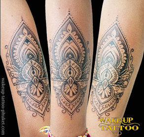 Mandala Dot tattoo by Wake up Tattoo Phuket
