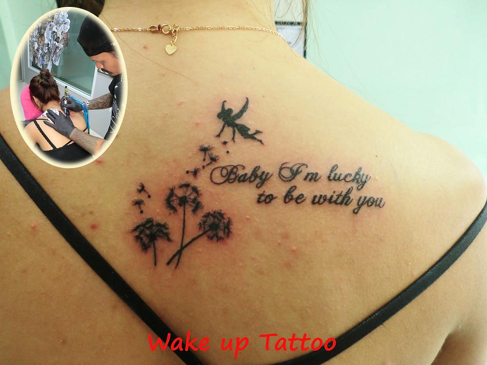 Dandelion Tattoo by Wake up Tattoo Phuket