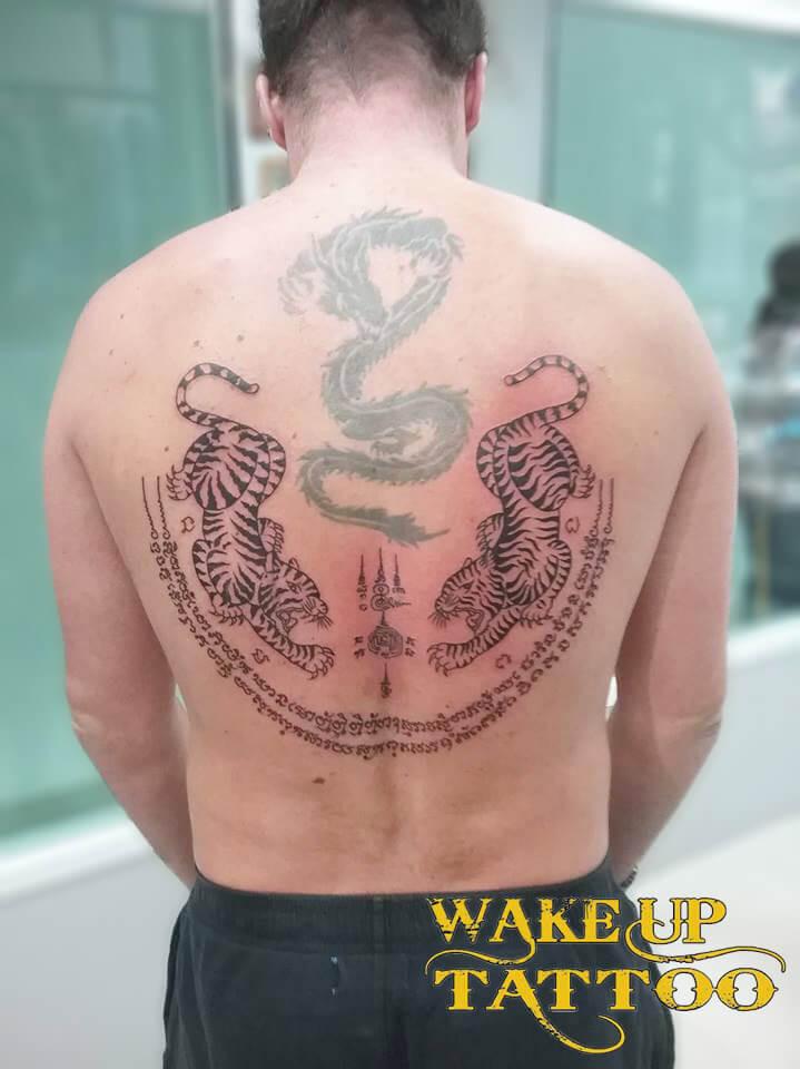 Traditional Thai Tattoo by Wake up Tattoo Phuket