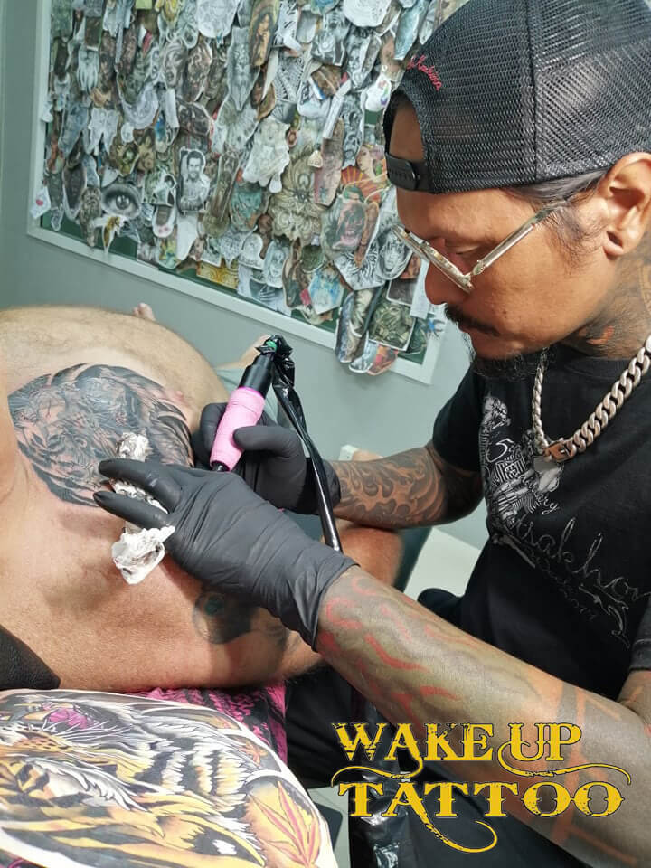 Artist by Mr. Pu at Wake up Tattoo Phuket