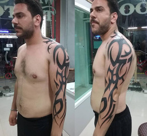 tribal tattoo by Wake up tattoo Phuket at Patong beach Thailand