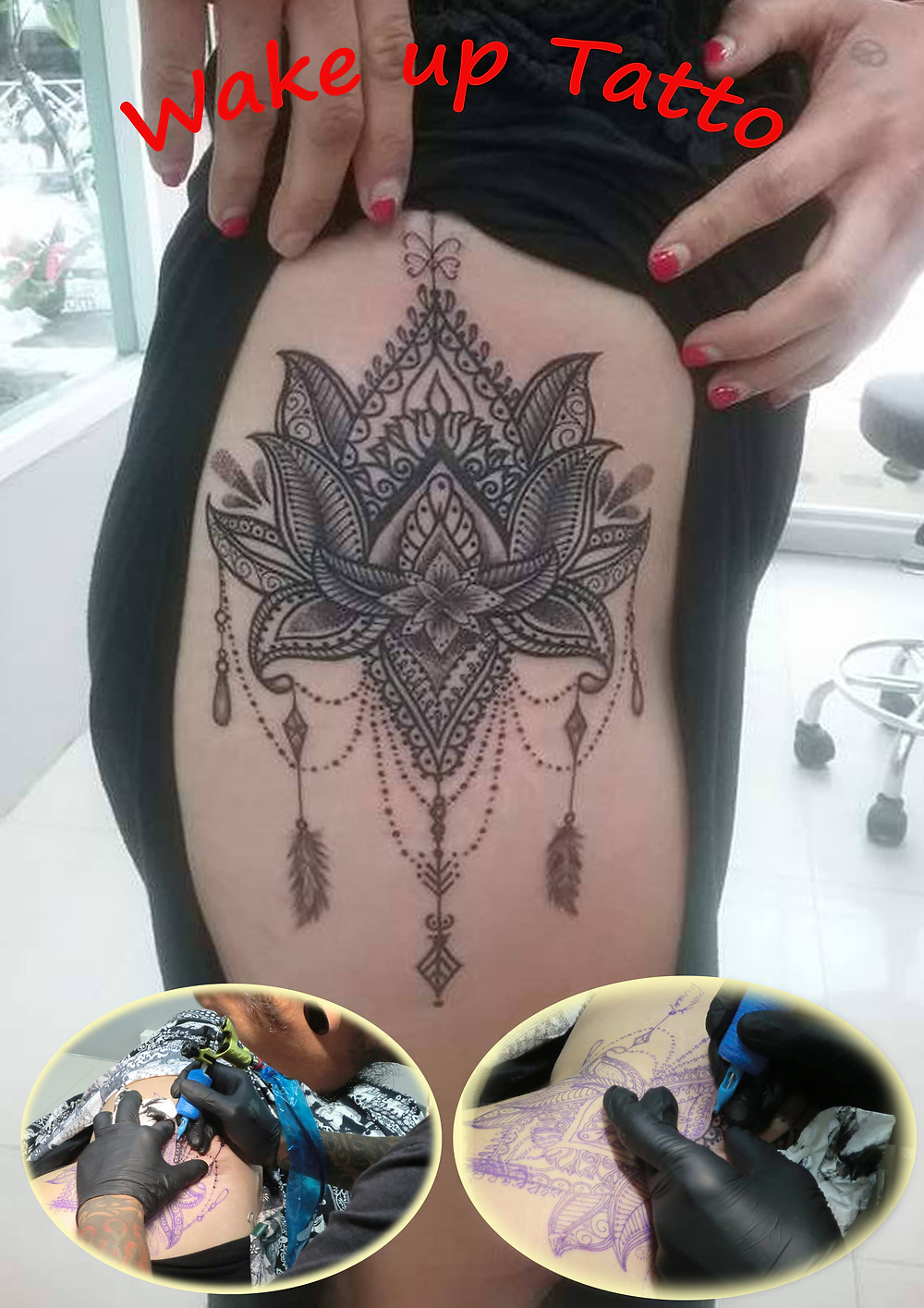 Mandala tattoo by Wake up Tattoo