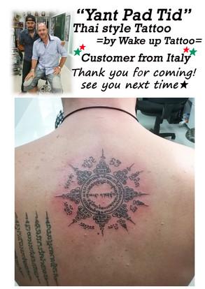 "Thai style ""Yant Pad Tid"" Tattoo by Wake up Tattoo"