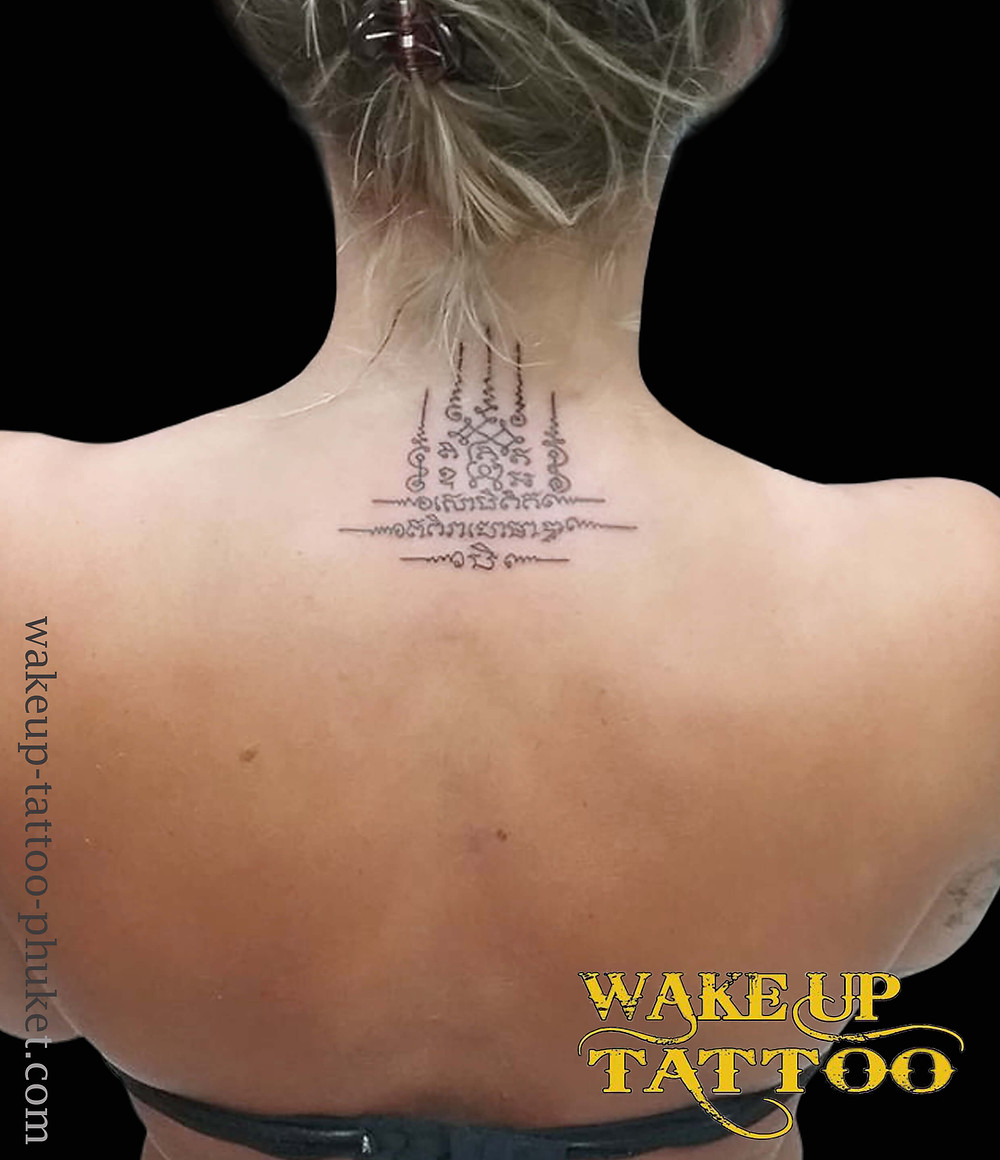 Sak Yant Traditional Thai Tattoo by Wake up Tattoo Phuket