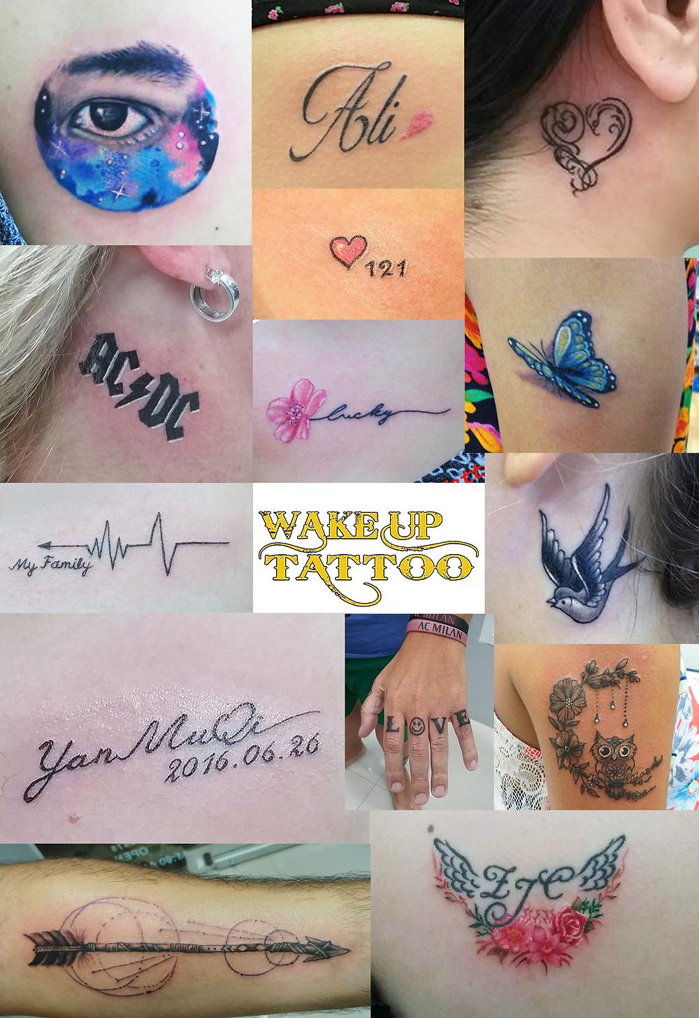 small tattoo by Wake up Tattoo Phuket