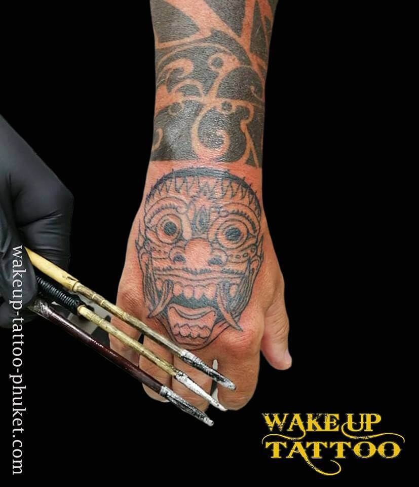 Thai Traditional Bamboo tattoo by Wake up Tattoo Phuket