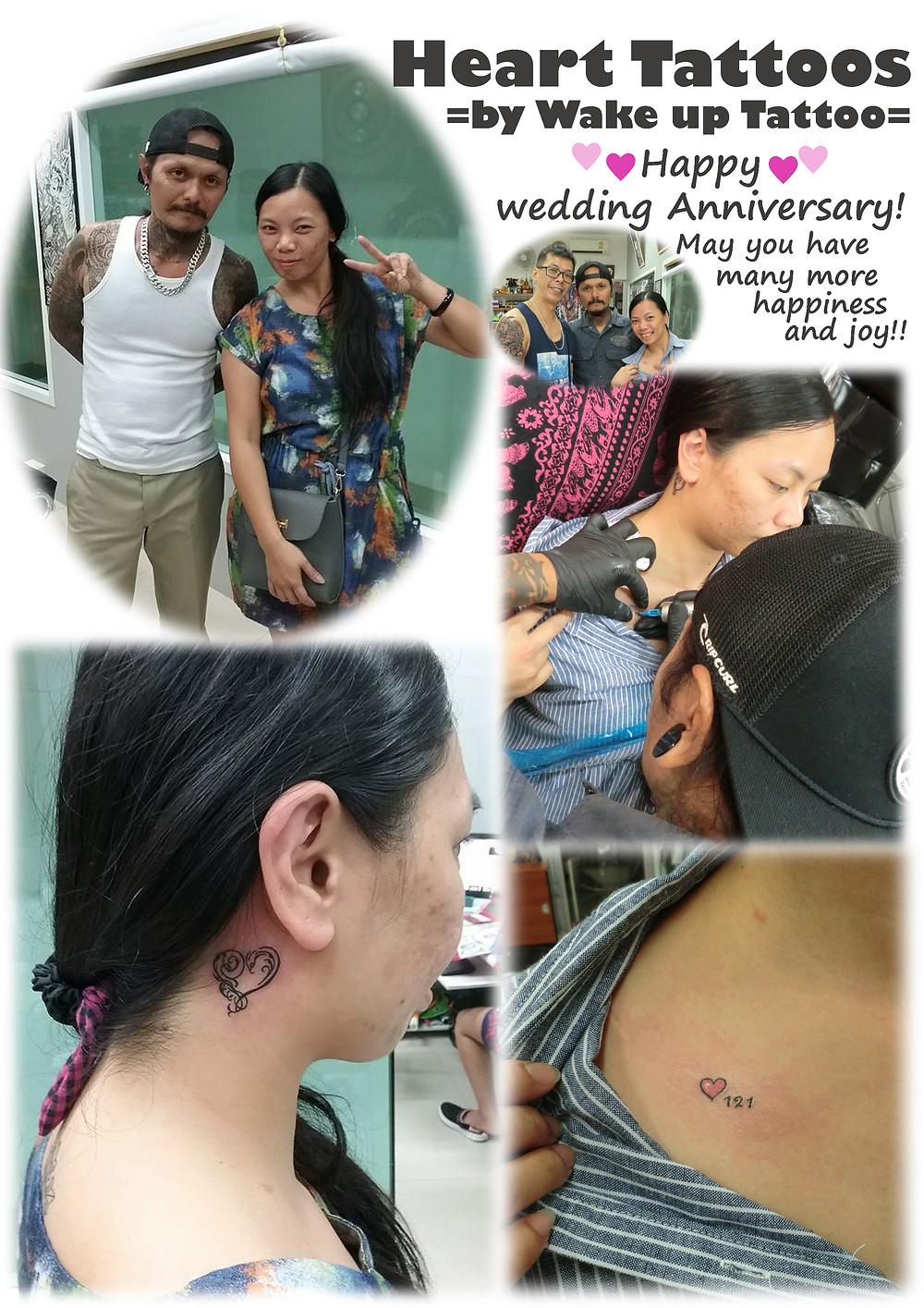 Heart Tattoos by Wake up Tattoo Phuket