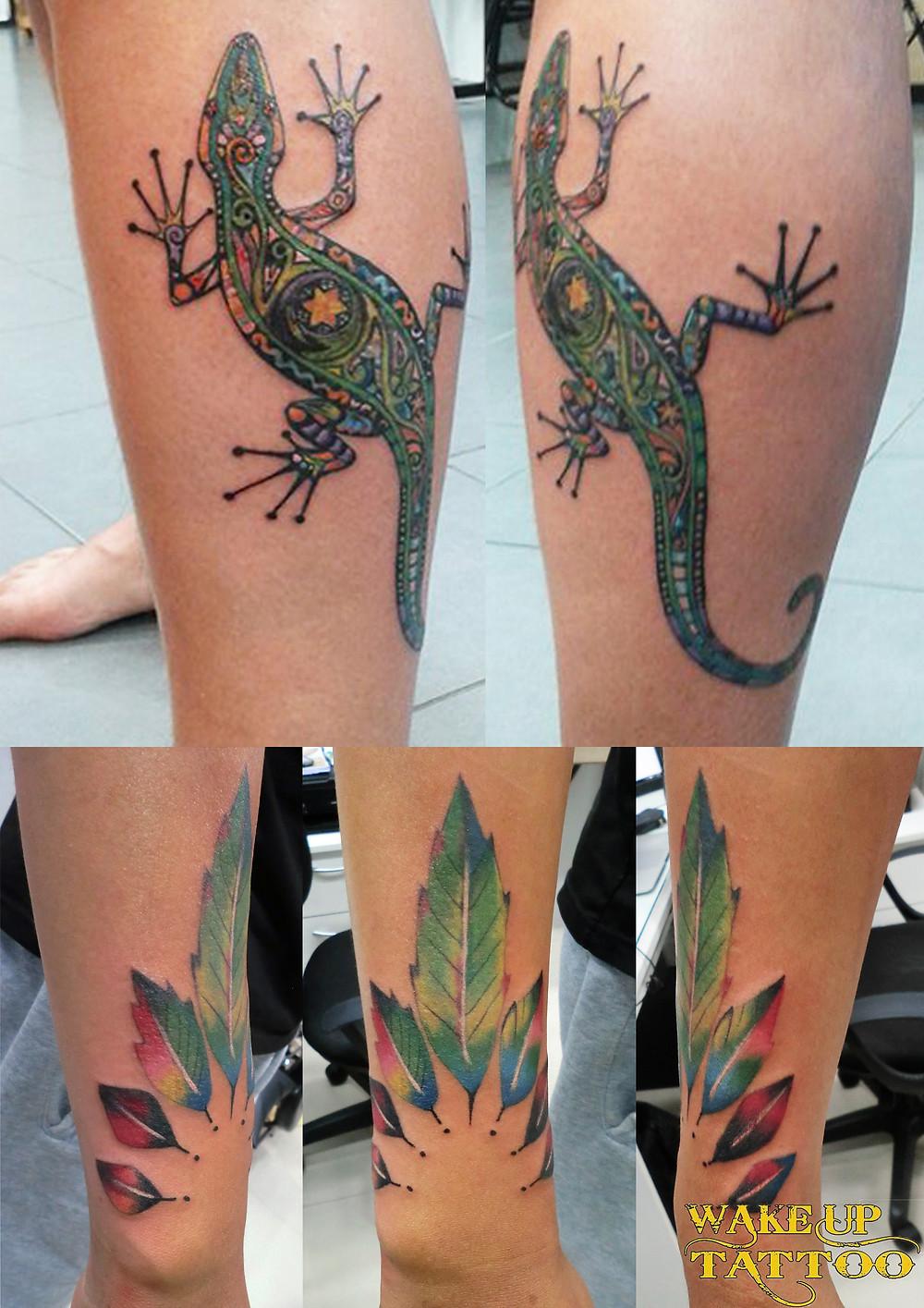 colorful tattoo by Wake up Tattoo Phuket