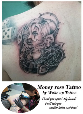 Money Rose Tattoo by Wake up Tattoo Phuket