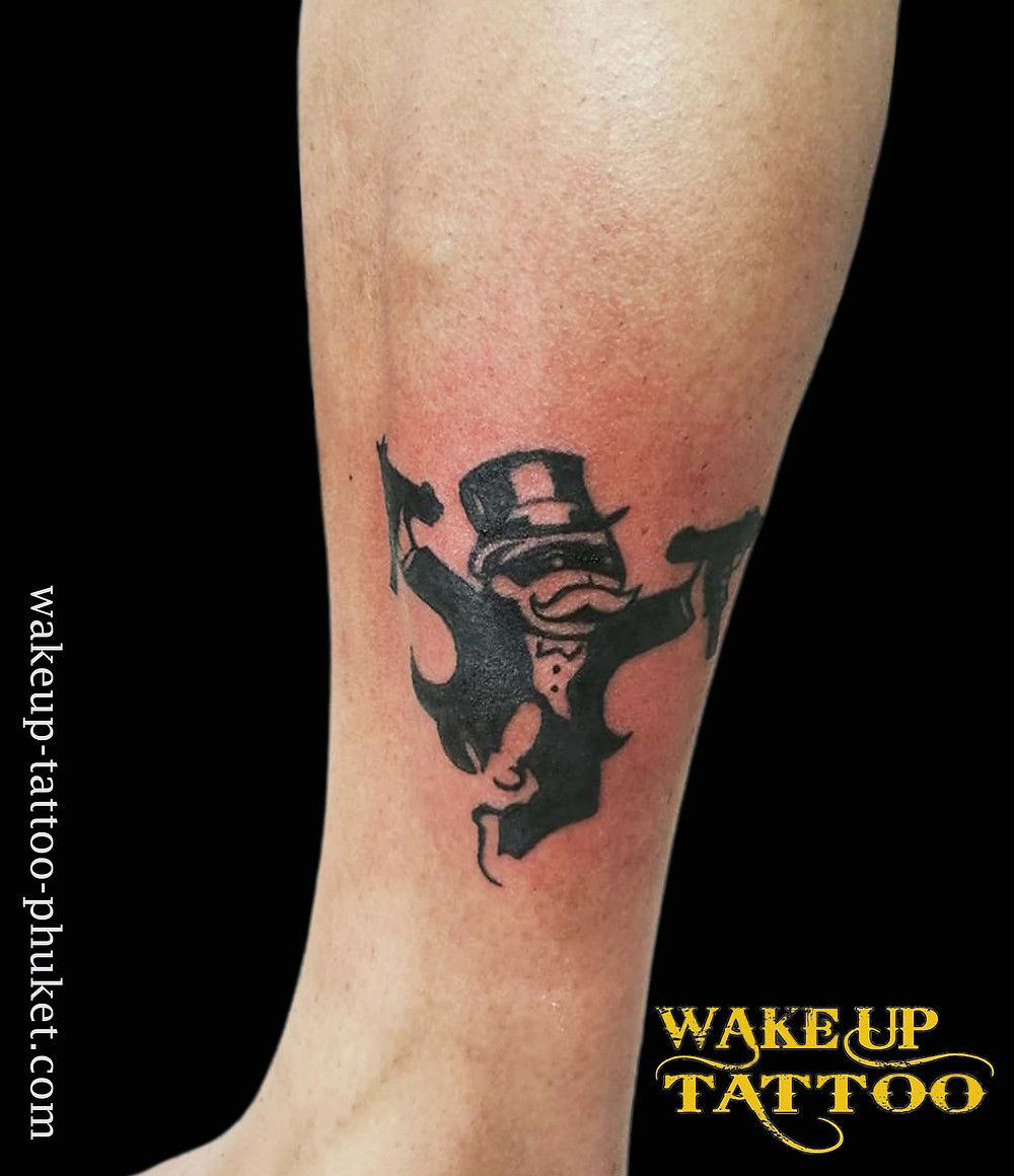 Monopoly Man Tattoo by Wake up Tattoo Phuket