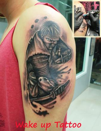 Ninjya tattoo by Wake up Tattoo Phuket