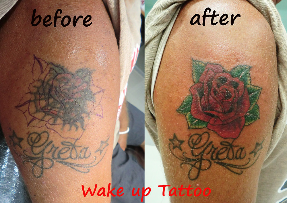 Cover up Tattoo by Wake up Tattoo Phuket