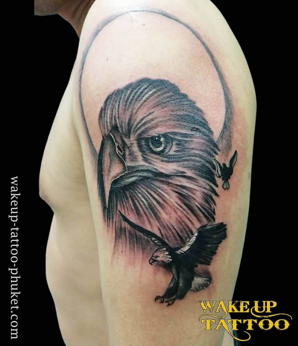 Eagle Tattoos by Wake up Tattoo Phuket
