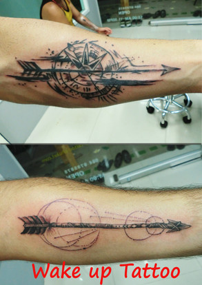 arrow tattoo by Wake up Tattoo Phuket