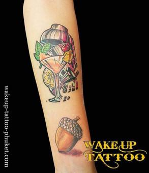 Colorful Tattoos by Wake up Tattoo Phuket