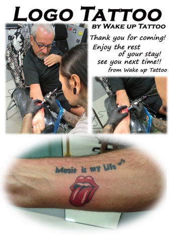 Kiss Logo Tattoo by Wake up Tattoo Phuket