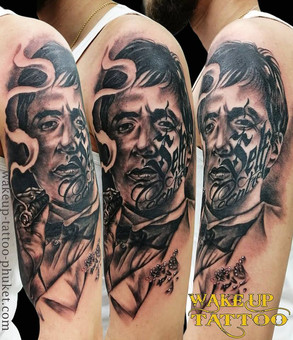Realism Face tattoo by Wake up Tattoo Phuket