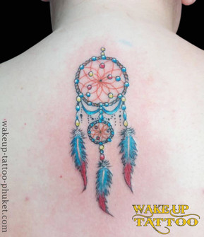 Dreamcatcher tattoos by Wake up Tattoo Phuket