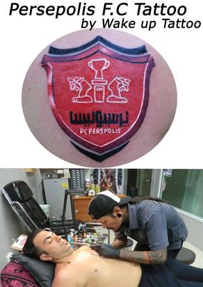 Persepolis F.C. logo Tattoo by Wake up Tattoo Phuket