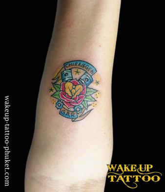 Tiny Color Tattoo by Wake up Tattoo Phuket