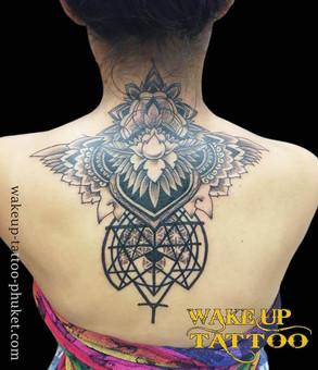 Mandala Back side Tattoo By Wake up Tattoo Phuket