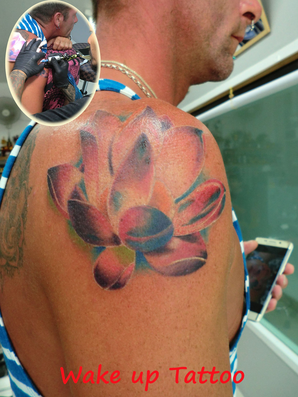 lotus tattoo by Wake up Tattoo