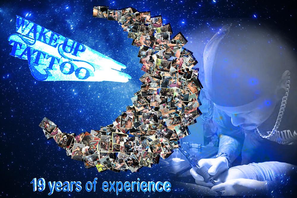 19 years od experience by Wake up Tattoo Phuket