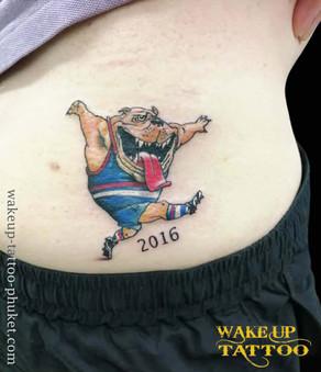 Bulldog tattoo Mark knight Tattoo by Wake up Tattoo