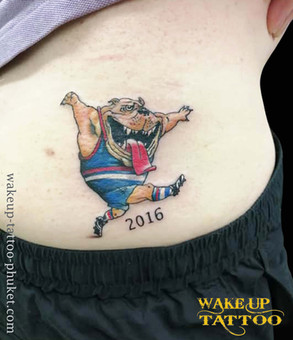 Bulldog tattoo Mark knight Tattoo by Wake up Tattoo