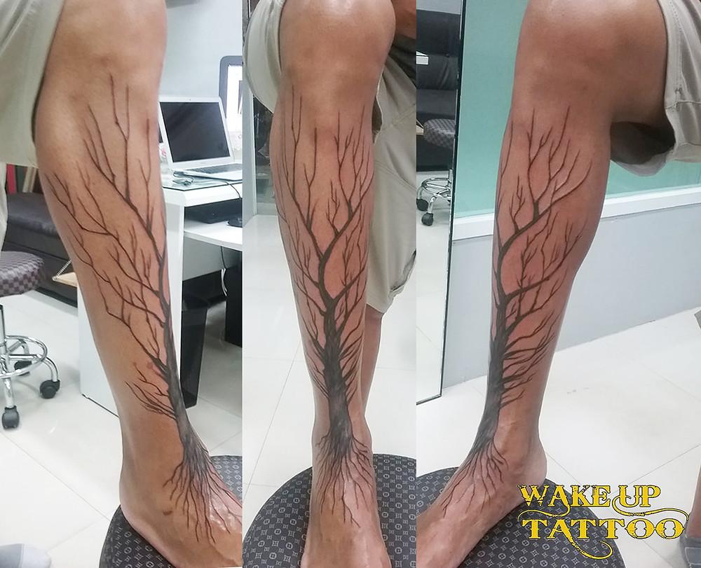 tree lag tattoo by Wake up tattoo Phuket at Patong Beach