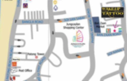 Wake up Tattoo Phuket studio map