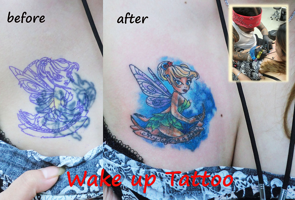 Tinker bell Tattoo by Wake up Tattoo Phuket