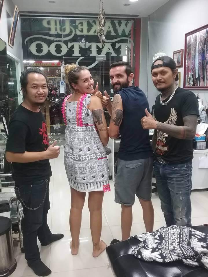 Customers by Wake up Tattoo Phuket in Patong