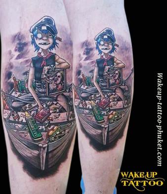 Delicate and beautiful tattoo design by Wake up Tattoo Phuket