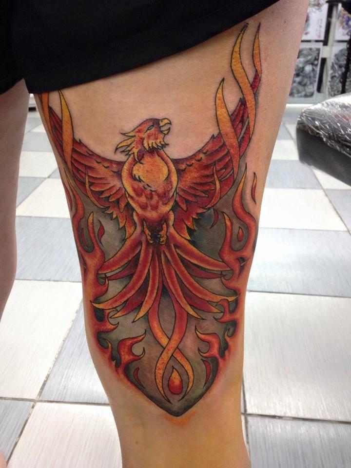 phoenix tattoo by Wake up Tattoo Phuket at Patong beach