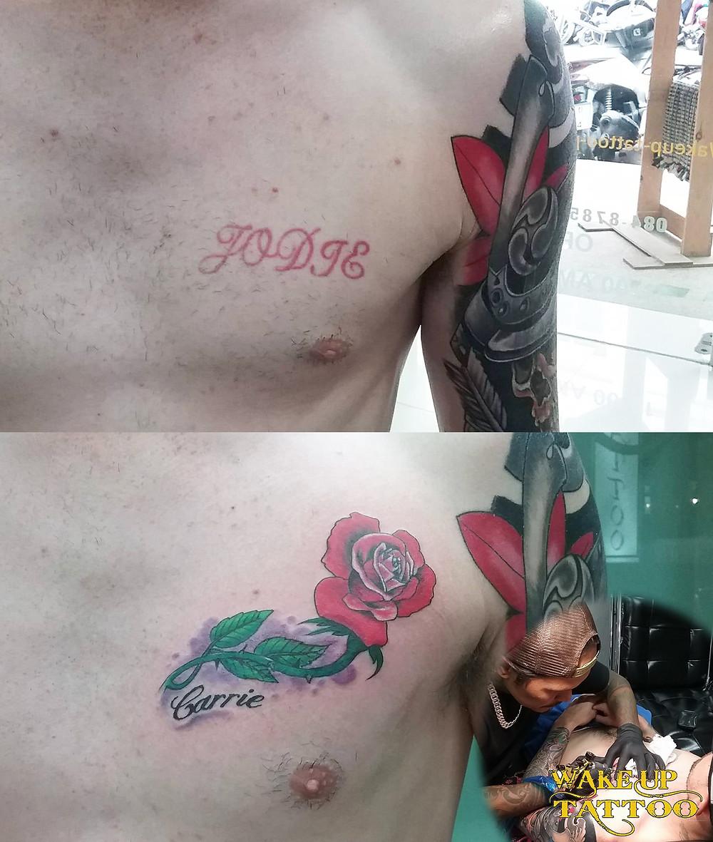 cover up Tattoo by Wake up Tattoo Phuket at Patong Beach