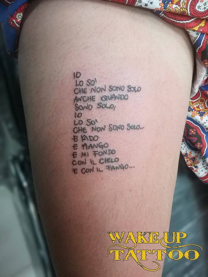 Letter tattoo by Italian at Wake up Tattoo Phuket in Patong studio