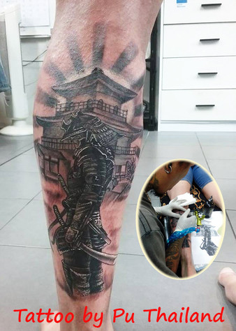 SAMURAI Tattoo design by Wake up Tattoo Phuket
