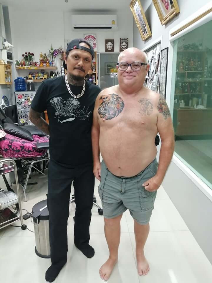 Customer at Wake up Tattoo Phuket