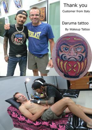 Daruma tattoo by Wake up Tattoo Phuket