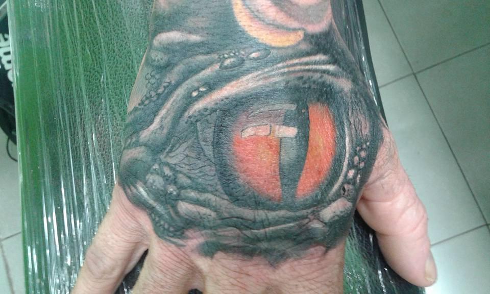 eye tattoo by Wake up Tattoo Phuket at Patong Beach Thailand