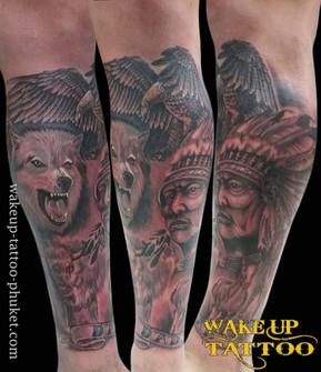 Native American Tattoos by Wake up Tattoo Phuket