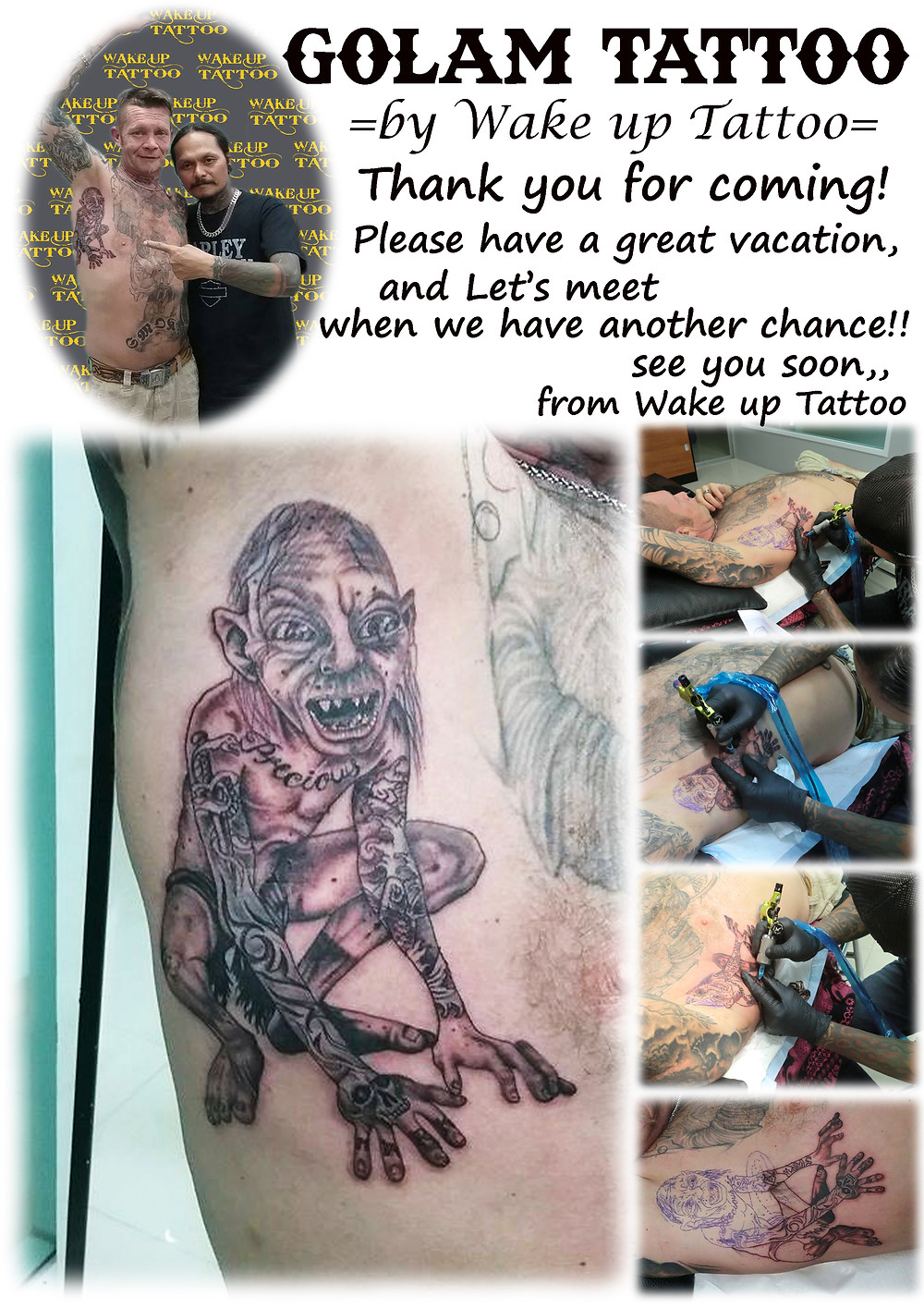 Golam Tattoo by Wake up Tattoo Phuket