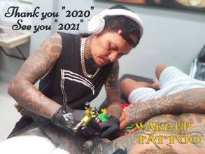 "Thank you ""2020"", See you ""2021"" by Wake up Tattoo Phuket"