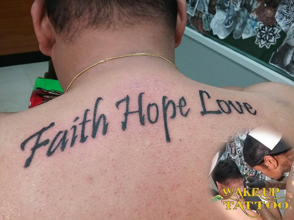 letter tattoo by Wake up Tattoo Phuket at Patong Beach