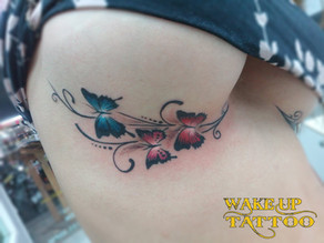 Under the chest Butterfly Tattoo at Wakeup tattoo Phuket