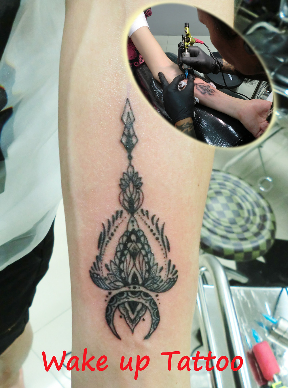Spear tattoo by Wake up Tattoo Phuket