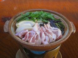 市房観光ホテル・山菜鍋