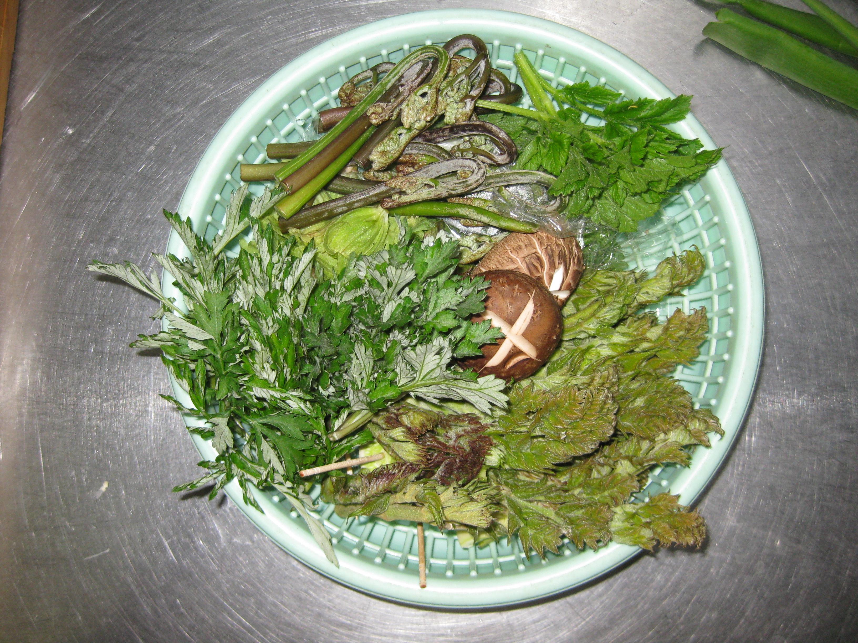 市房観光ホテル・山菜
